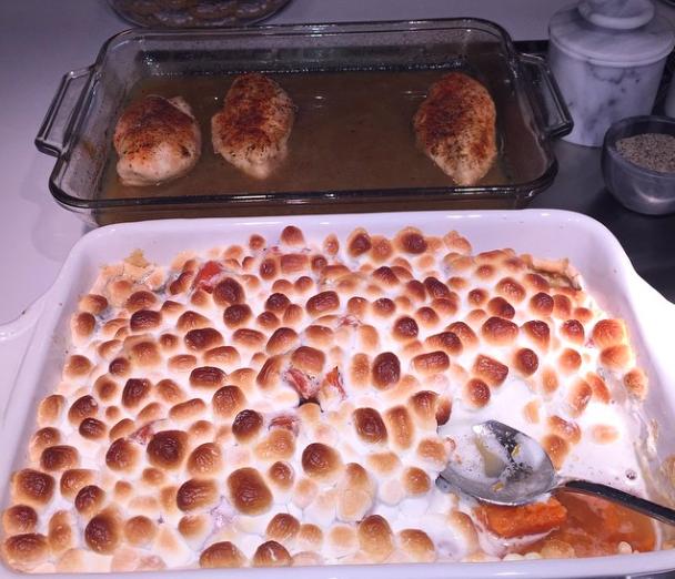 Khloé Kardashian gratin de patates douces