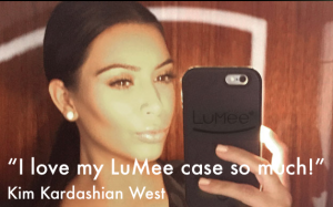 Kim Kardashian West fait des selfies pour Lumee