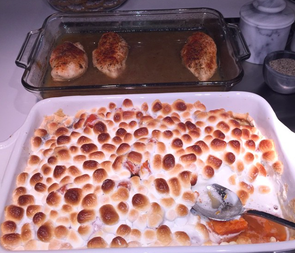 Khloé Kardashian gratin de patates douces thanksgiving