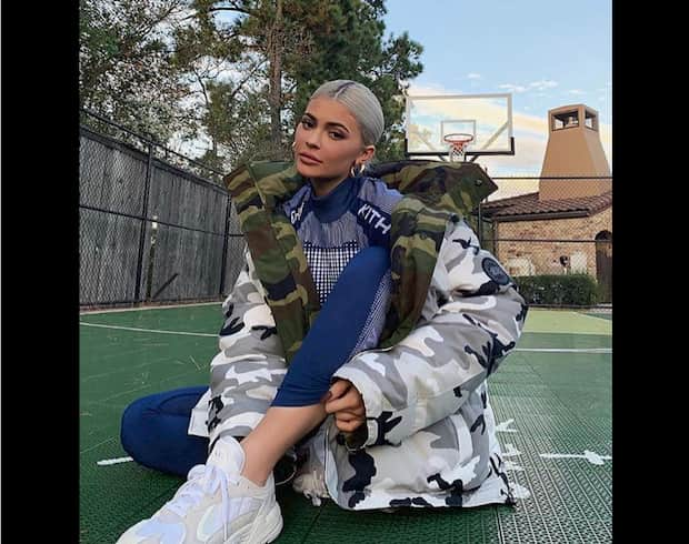 Kylie Jenner maxi Park Canada goose x Vetement