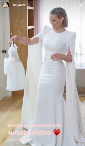 robe de mariée Hillary Duff Célébrités
