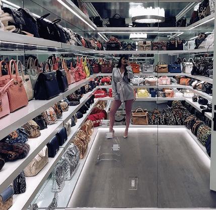 Kylie Jenner placard à sacs