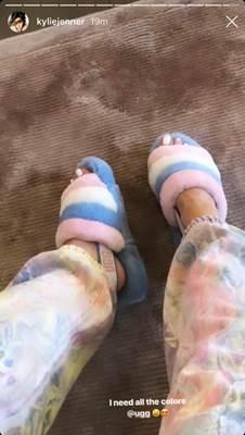 Sandales en fourrure Kylie jenner ugg
