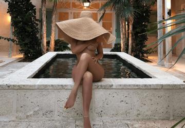 chapeau de paille Carla Moreau