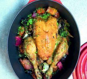 recette noël poulet rôti Juan Arbelaez