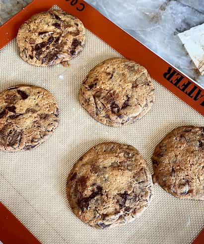 recette Cyril Lignac cookies deux chocolats