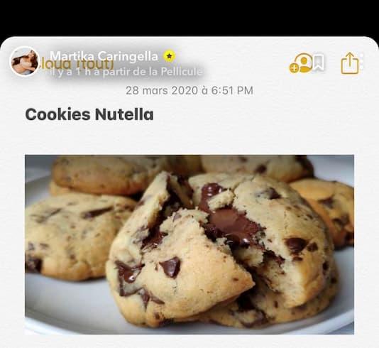 cookies au nutella Martika Caringella